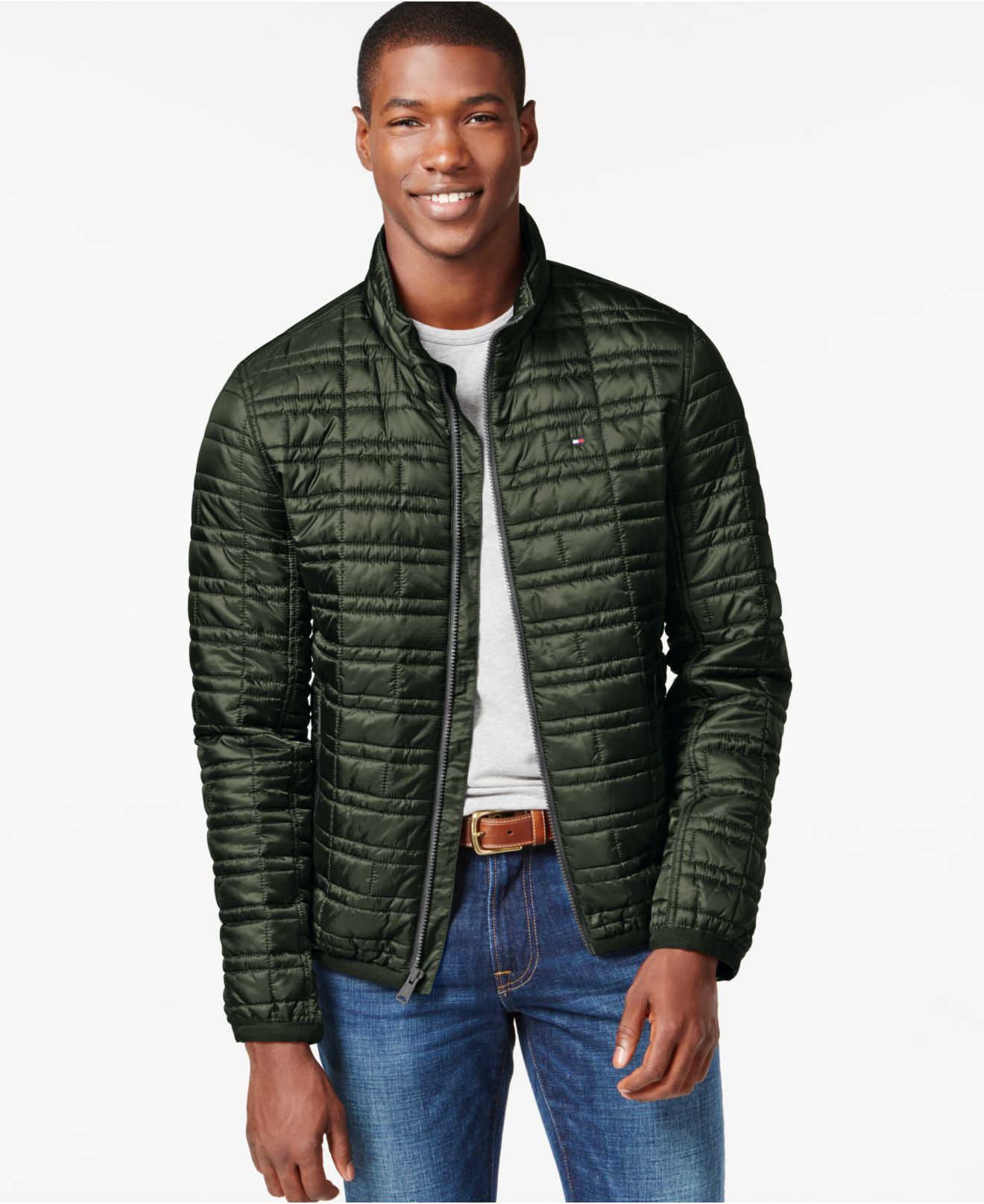 Tommy hilfiger Platinum Insulator Quilted Jacket in Green for Men ...