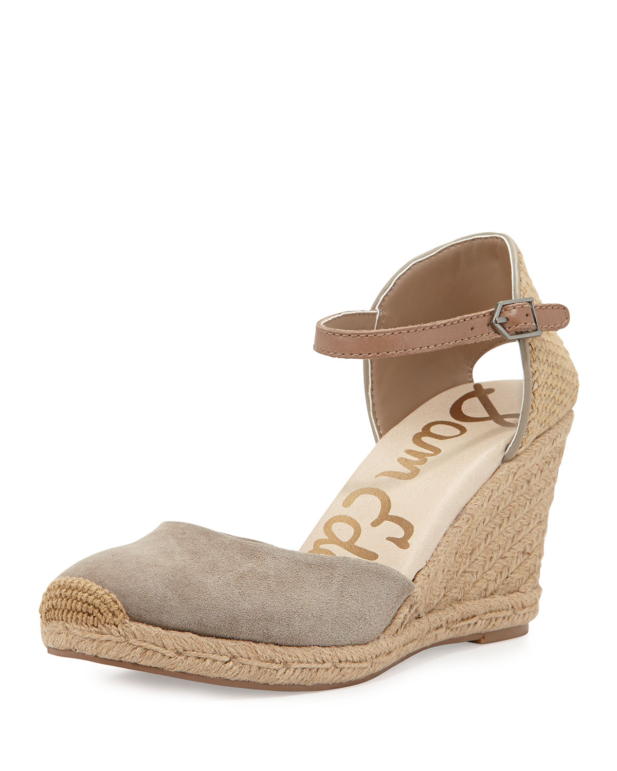 594f7bdf076e Lyst - Sam Edelman Harmony Suede Espadrille Wedge in Natural