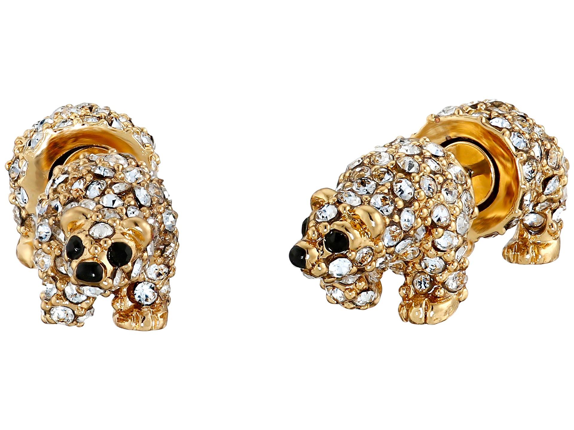 Kate spade new york Polar Bear Stud Earrings in Metallic ...