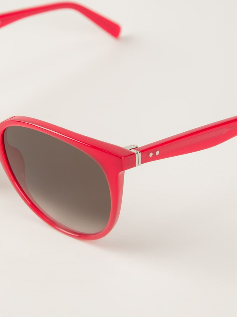 Celine Red Sunglasses  céline thin mary sunglasses in red lyst