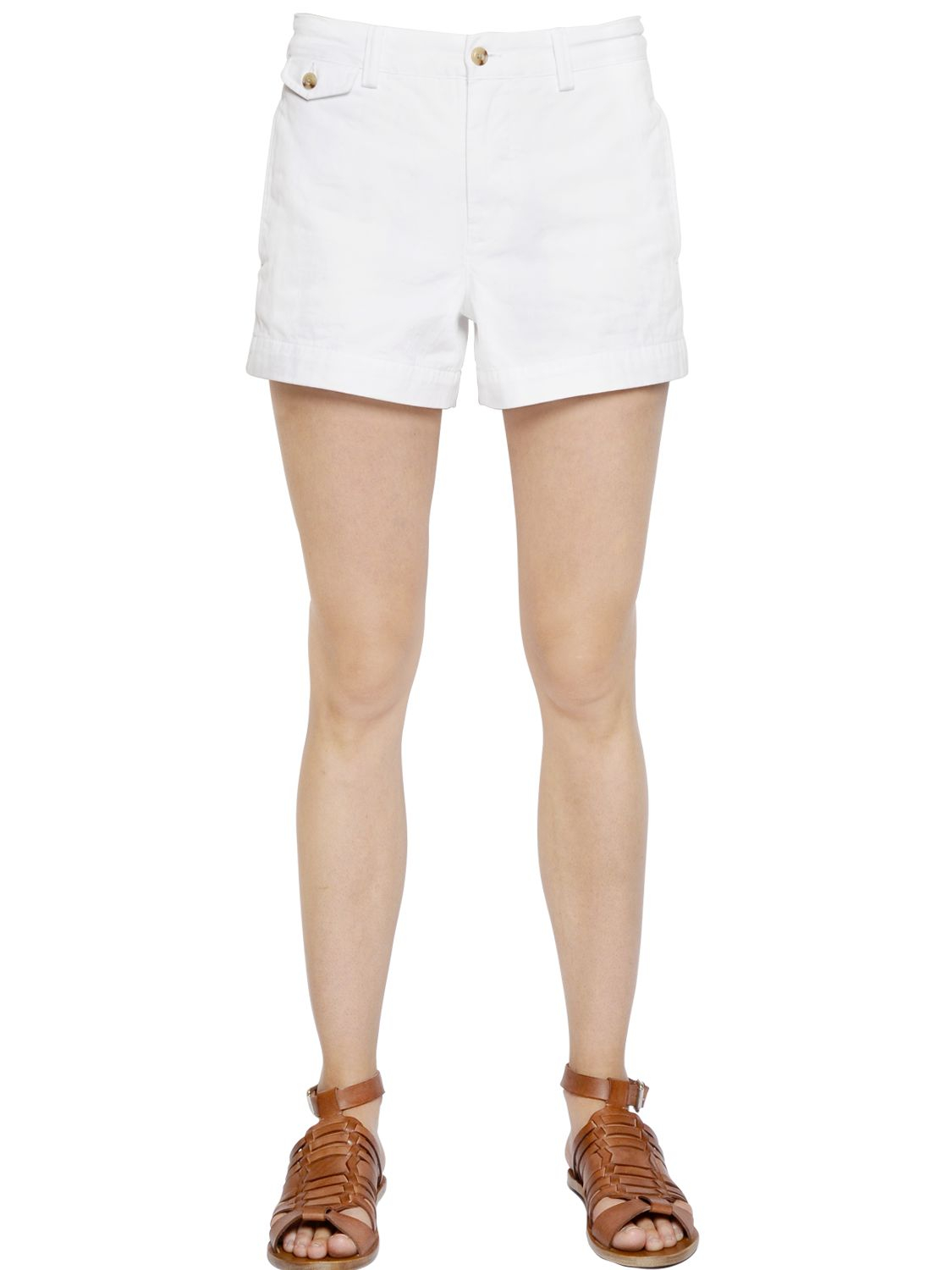 Lyst - Polo Ralph Lauren Cotton Chino Shorts in White 9d08cb339