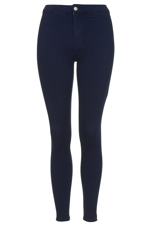 topshop petite moto intense blue joni jeans in blue deep. Black Bedroom Furniture Sets. Home Design Ideas