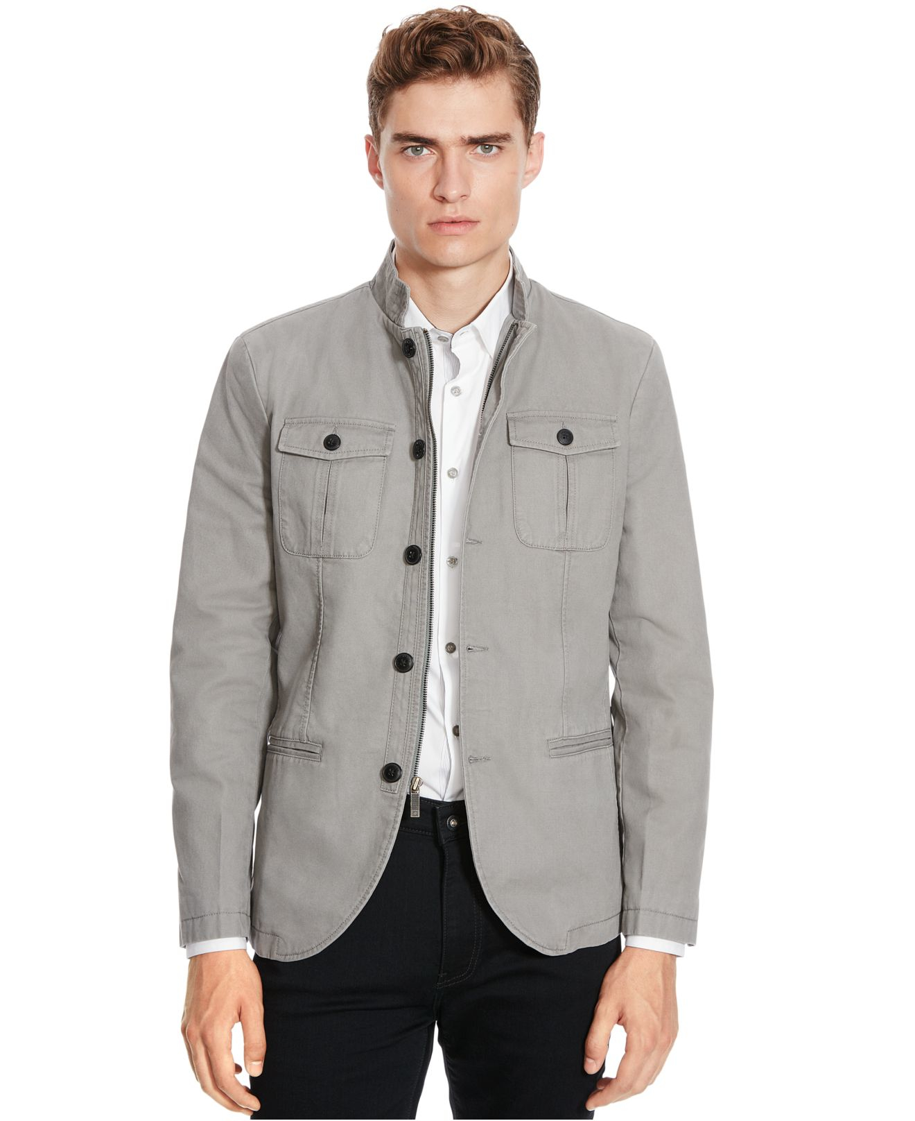 Kenneth cole reaction Twill Sport Coat in Gray for Men | Lyst