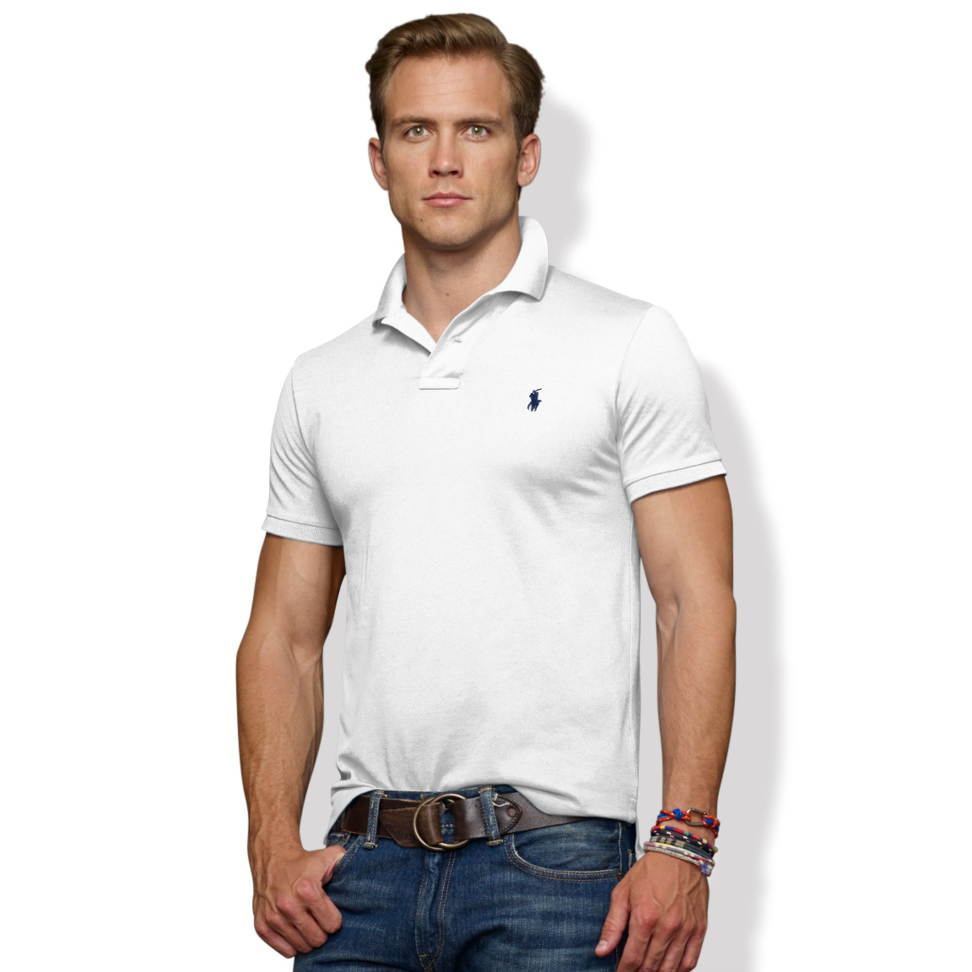 Pour Polo Ralph Boutons Fit polo Slim Fit Lauren 2 Pnw0Ok
