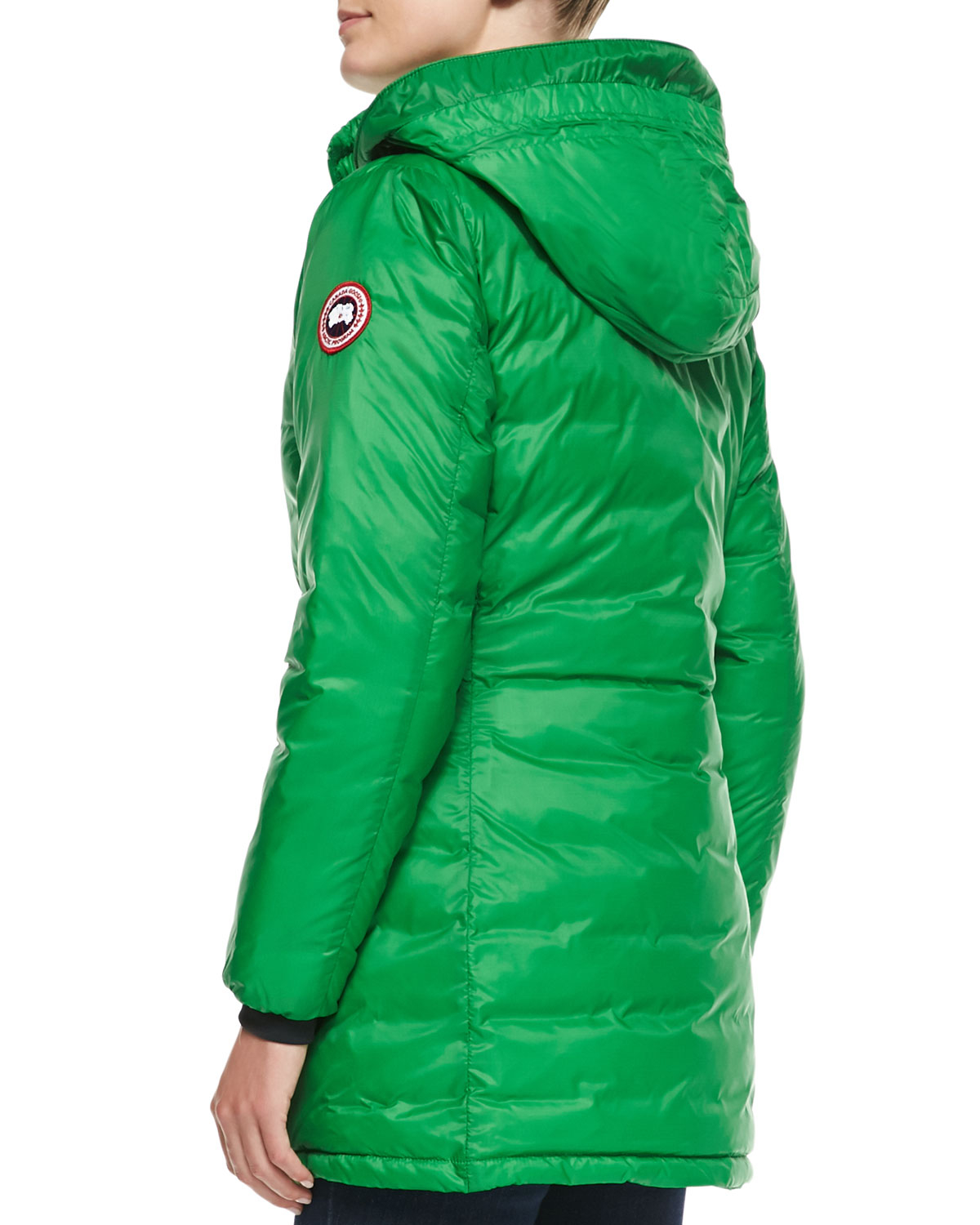 Canada goose Camp Hooded Mid-length Puffer Coat in Green | Lyst