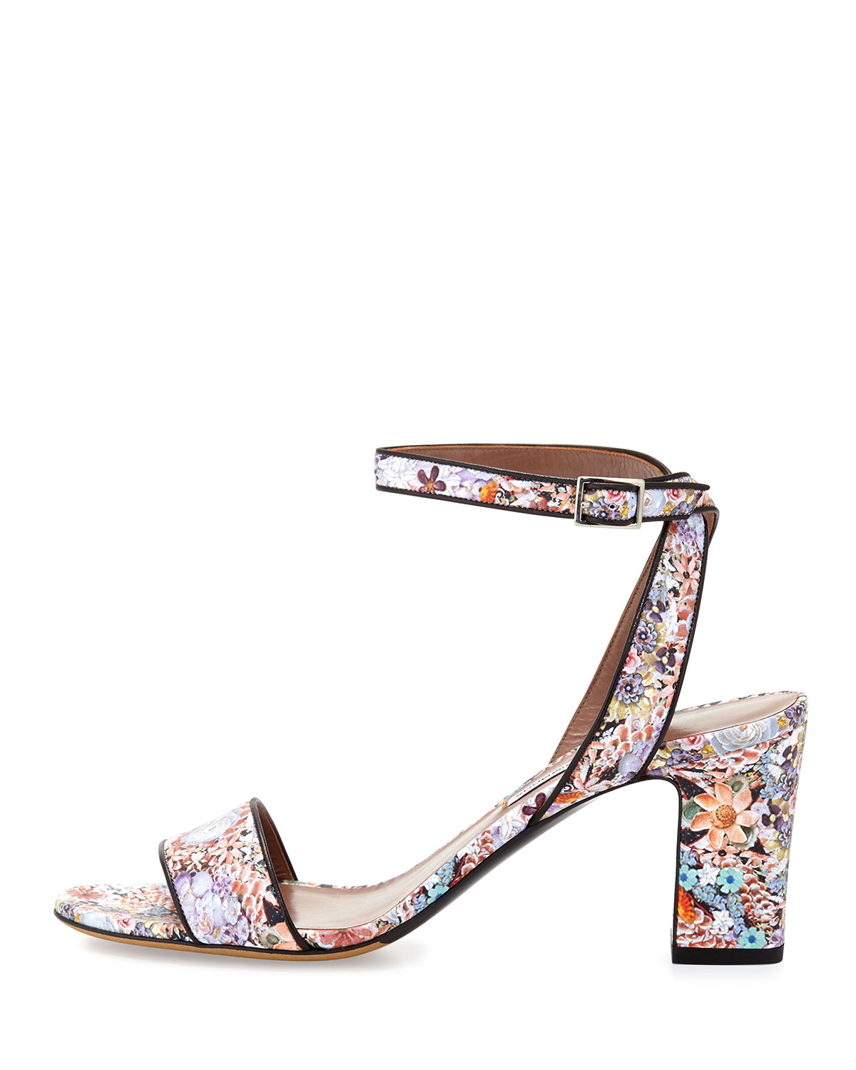 Tabitha Simmons Floral Leather Sandals