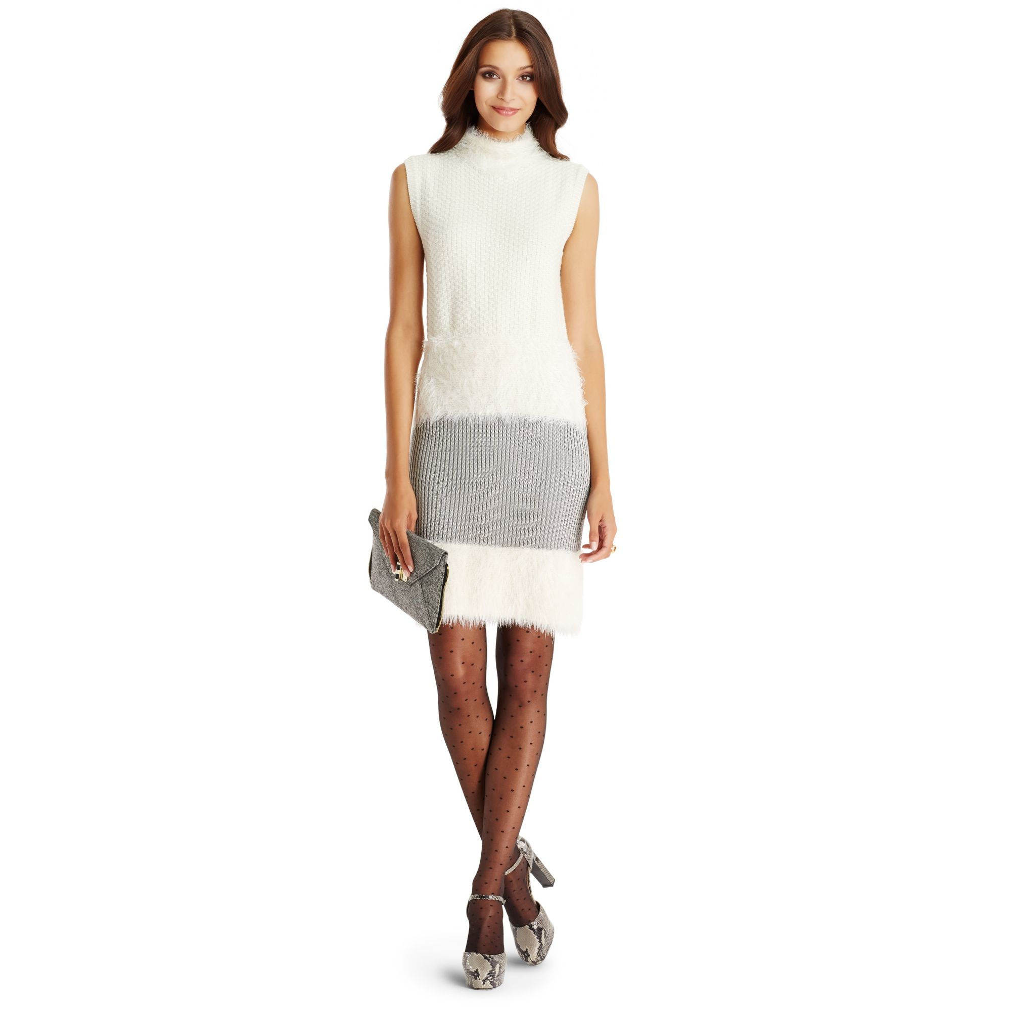 Lyst diane von furstenberg dvf plush sleeveless sweater for Diane von furstenberg clothes