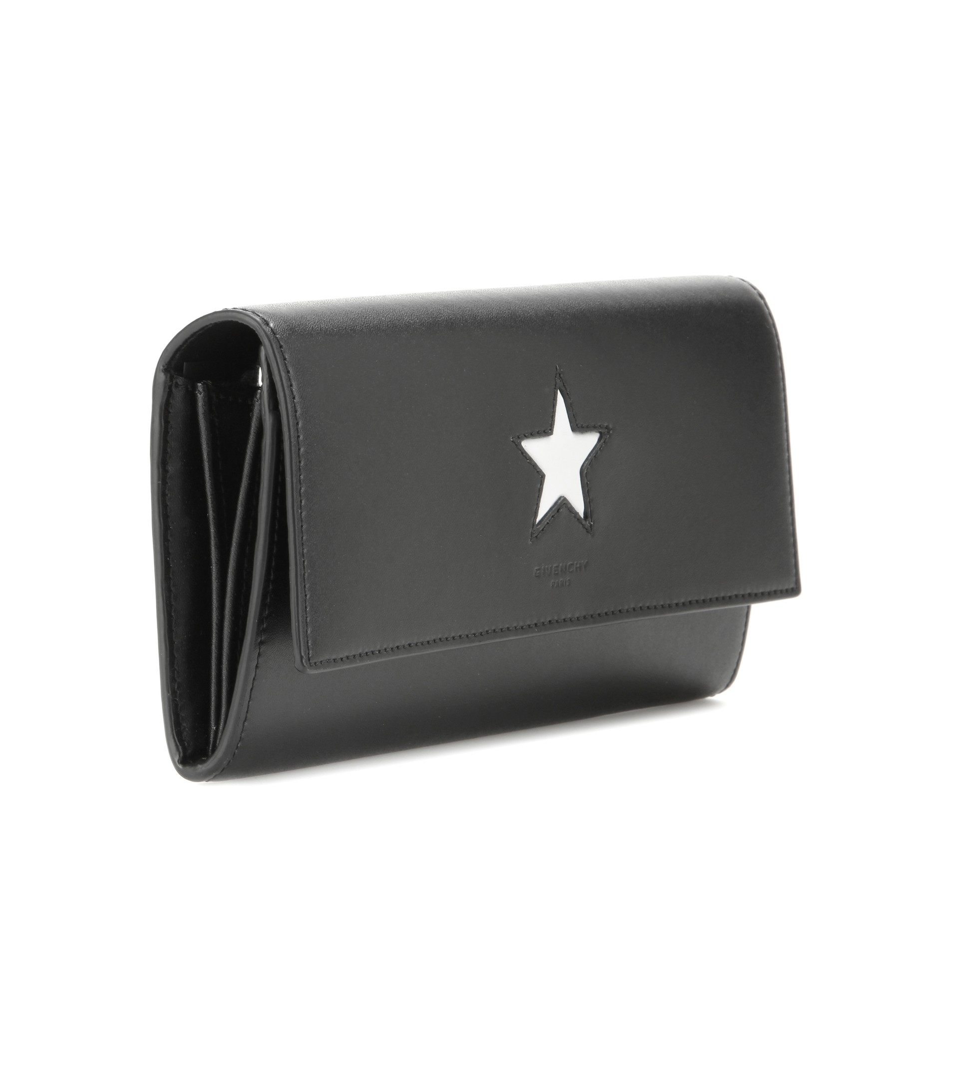 3002b4489d8 Givenchy Pandora Leather Wallet in Black - Lyst