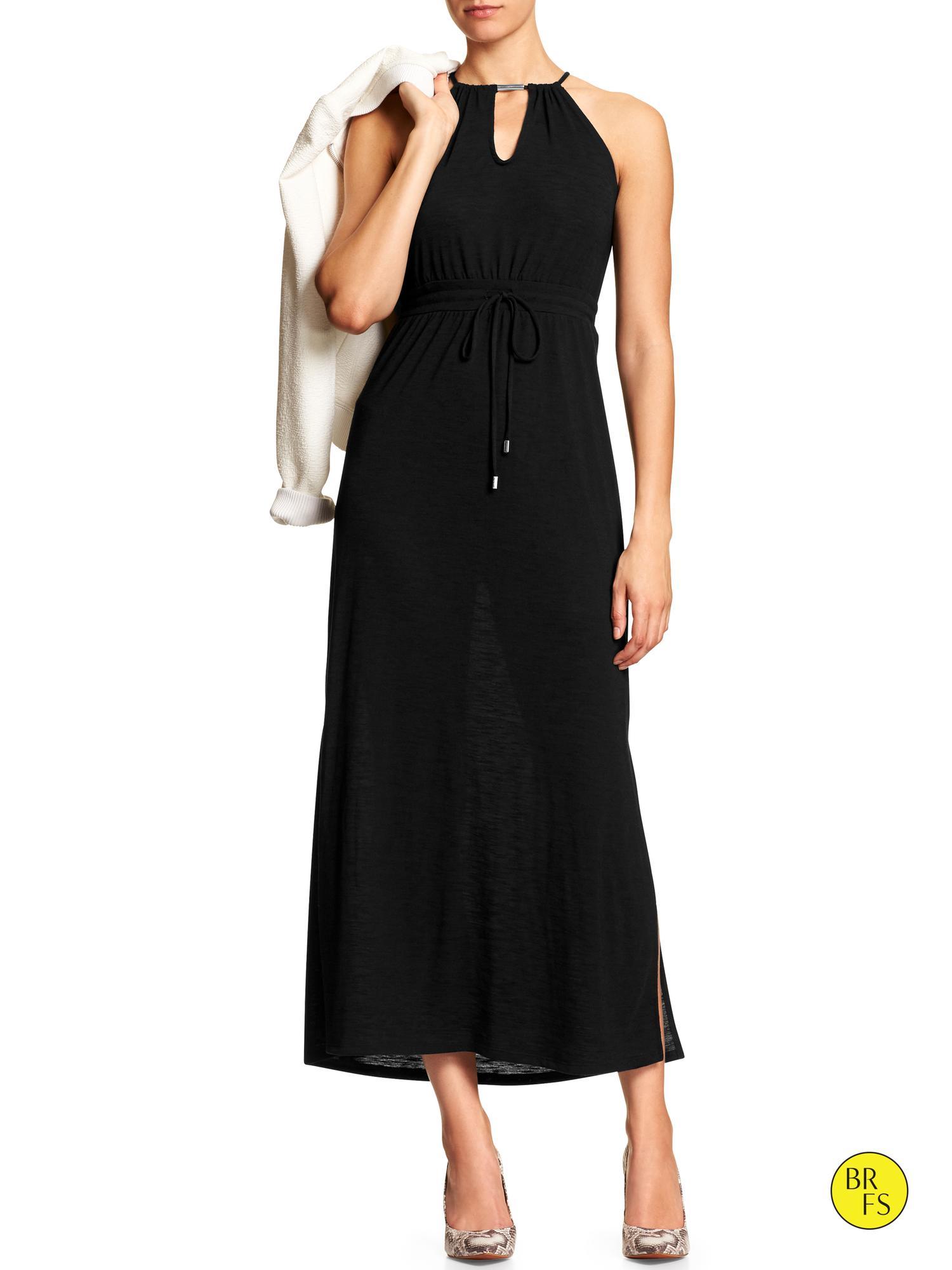 Banana Republic Factory Cut Out Maxi Dress In Black Lyst