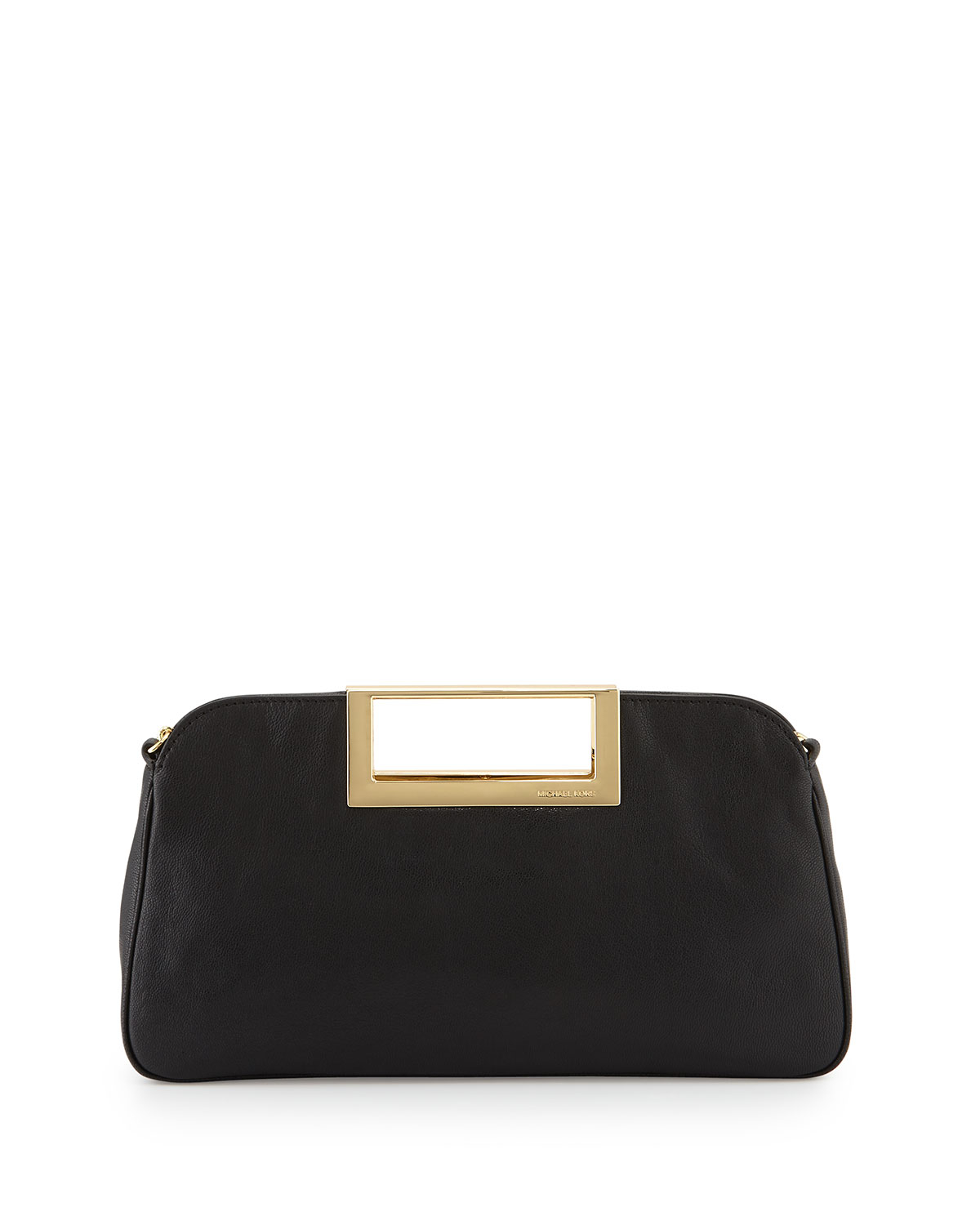 Michael michael kors Berkley Large Leather Clutch Bag in Black | Lyst