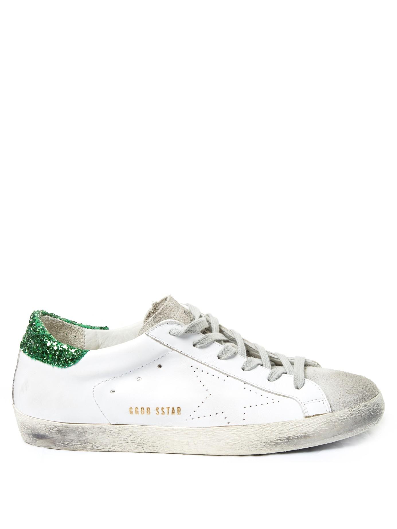 68c35d2d8eba Lyst - Golden Goose Deluxe Brand Superstar Glitter Low-Top Sneakers ...