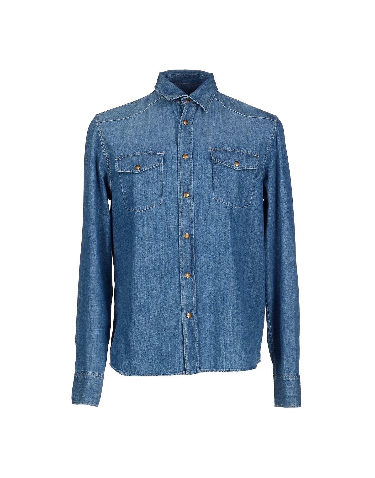 Prada Denim Shirt in Blue for Men