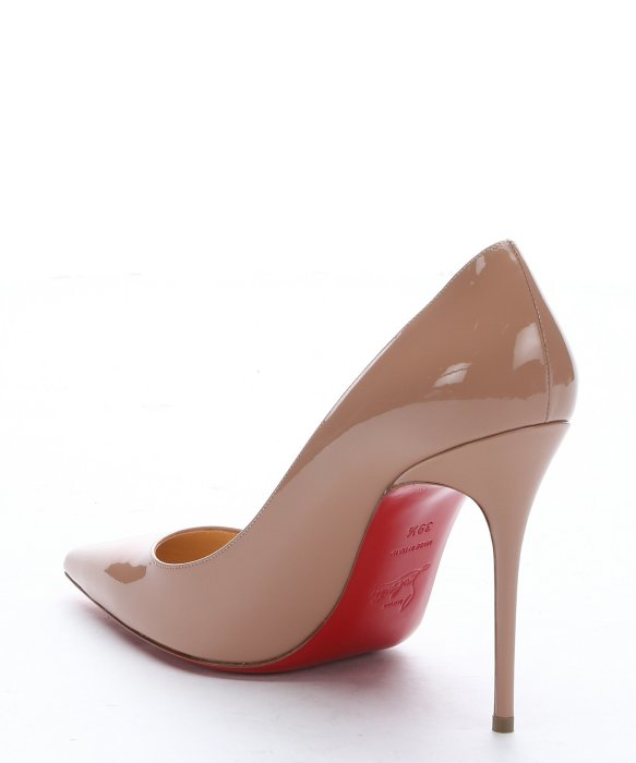 Christian louboutin Nude Patent Leather \u0026#39;decollete 554 100\u0026#39; Pumps ...