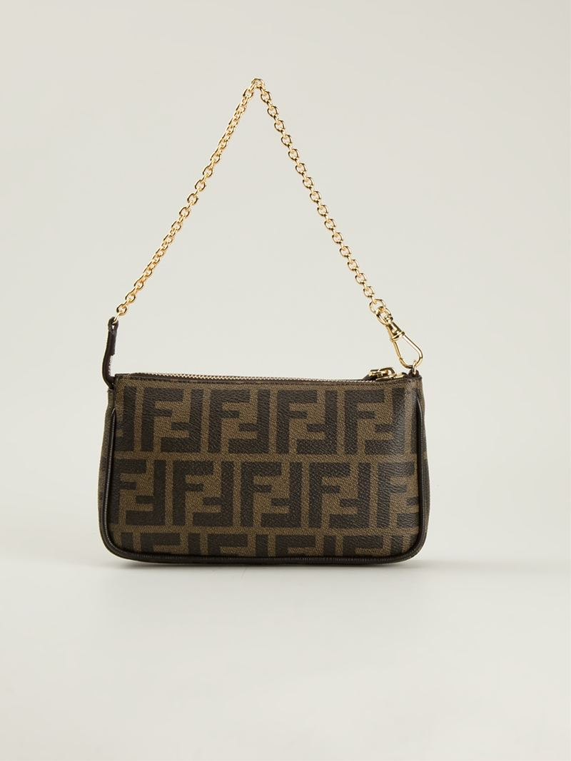 2be04750c1 ... norway lyst fendi signature monogram shoulder bag in brown c7853 5919c  ...