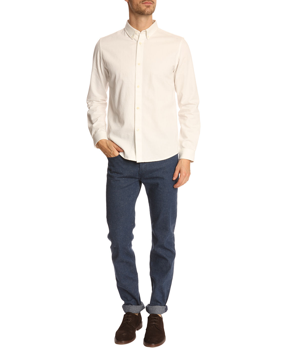 Off White Button Down Shirt   Is Shirt