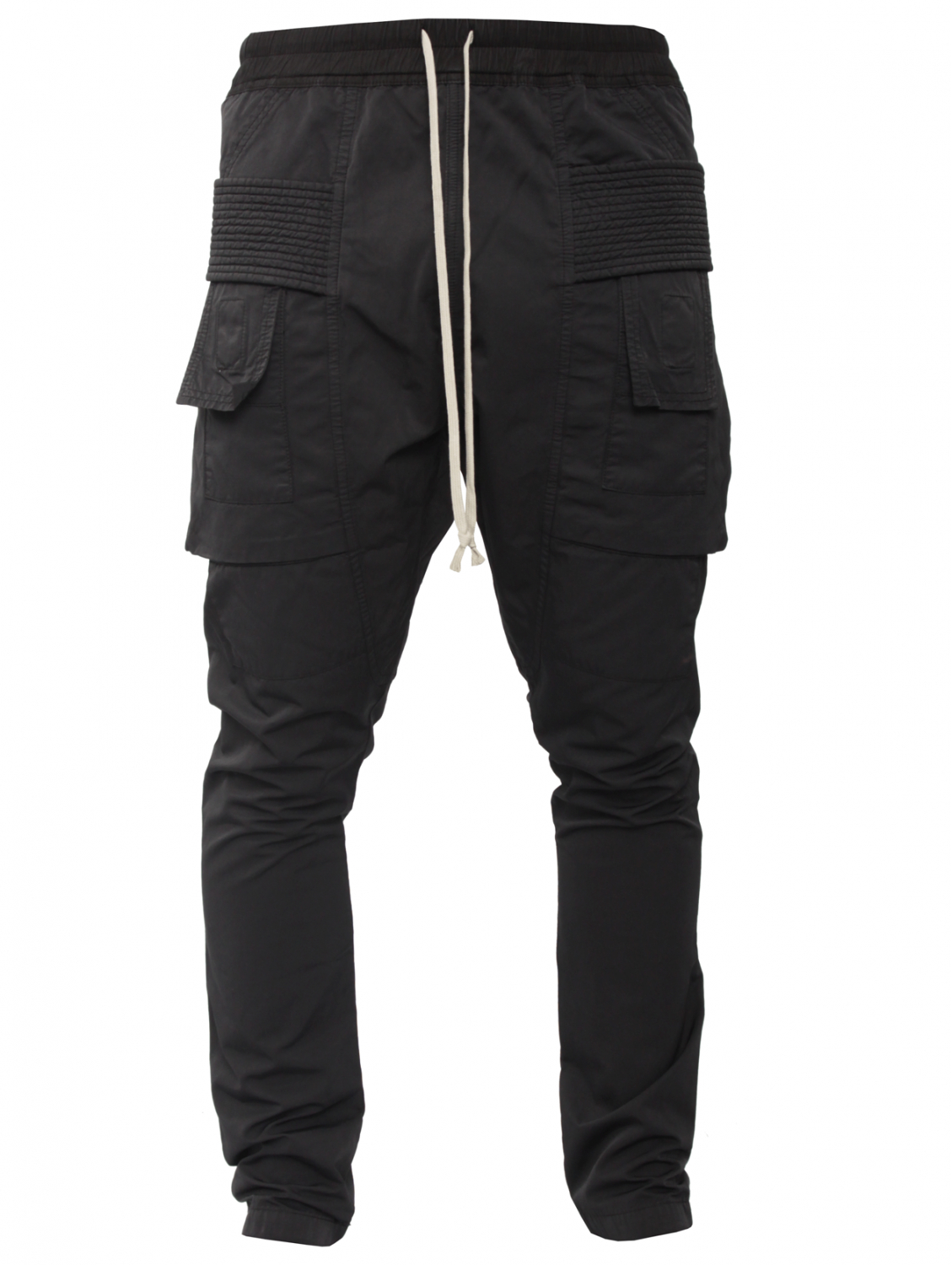 Drkshdw by rick owens Drawstring Cotton Cargo Trousers Black in ...