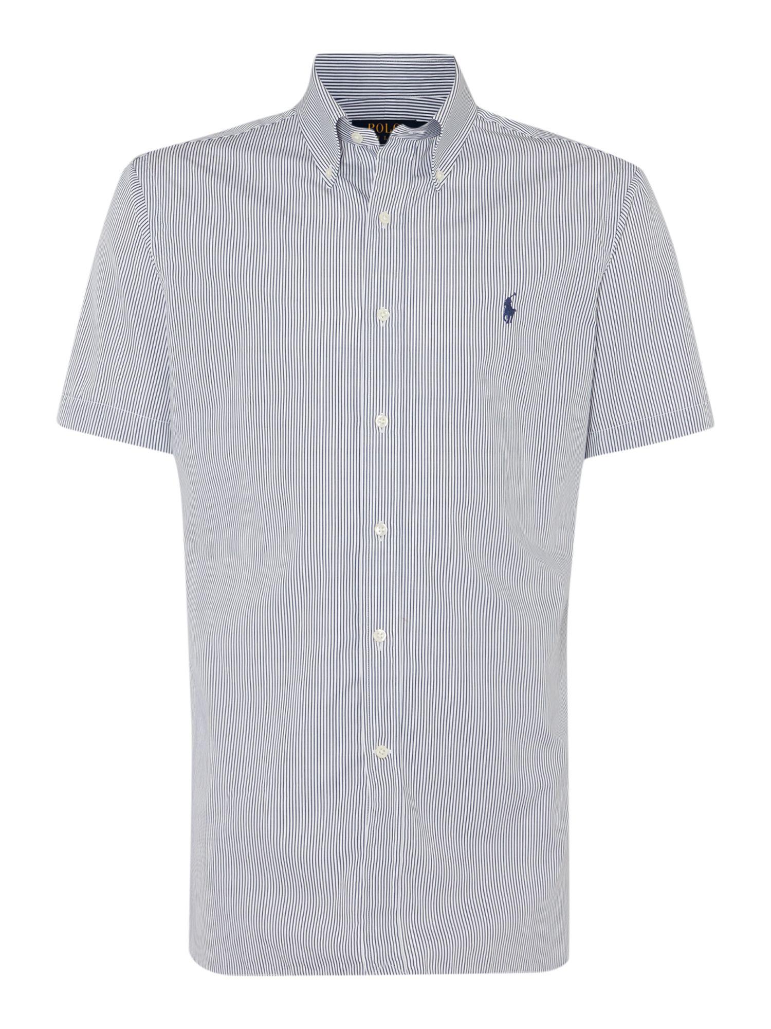 Polo Ralph Lauren Short Sleeve Dress Shirt In Blue For Men