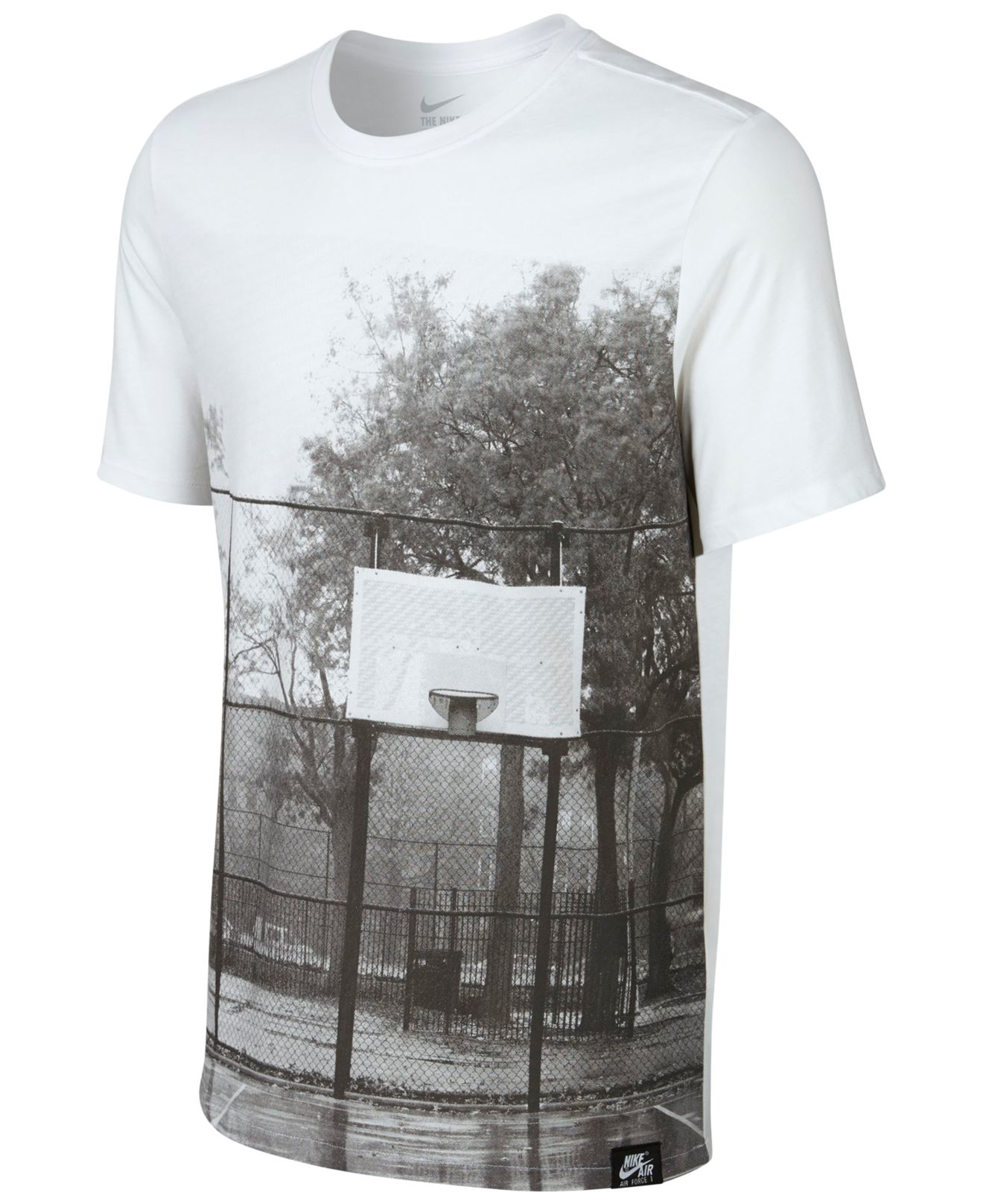 Lyst nike men 39 s af 1 brooklyn court graphic print t for T shirt printing brooklyn