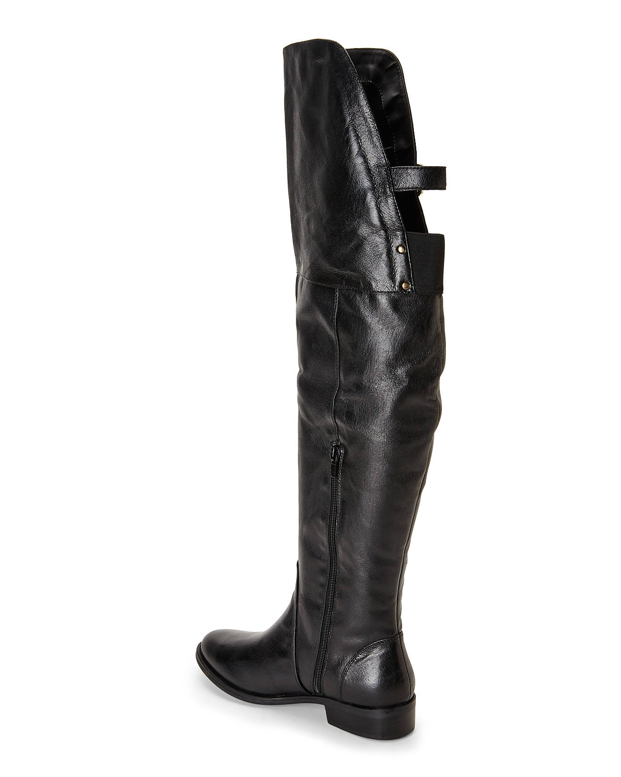 Steve madden Black Over-the-knee Riding Boots in Black | Lyst