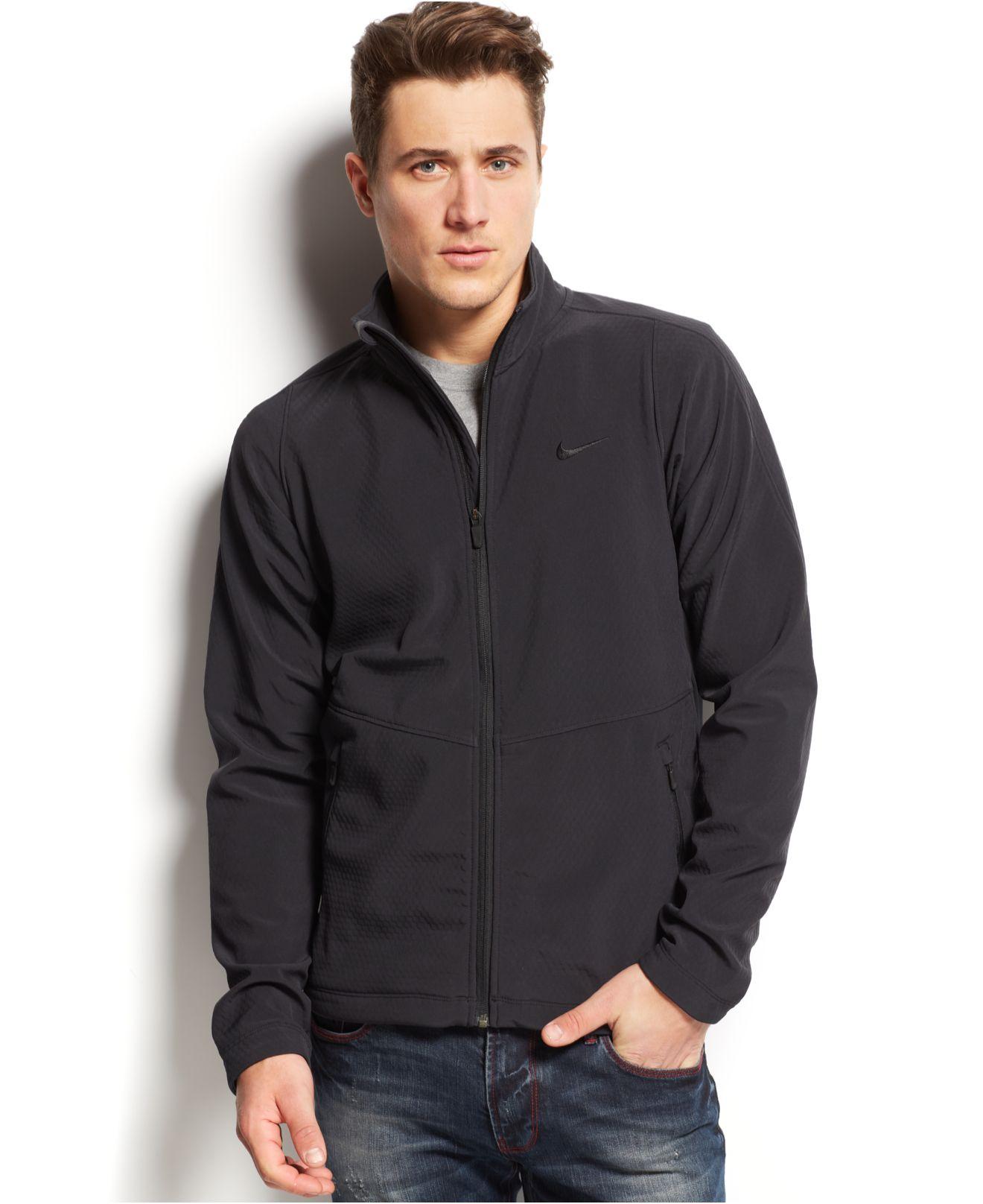 e236838cb795 Lyst - Nike Max Softshell Jacket in Black for Men