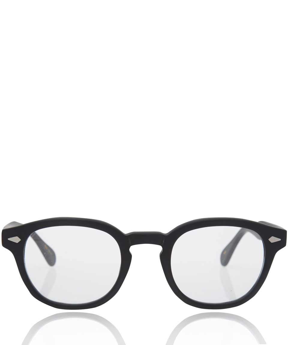 af4d7087005 Lyst - Moscot Black Lemtosh Glasses in Black for Men