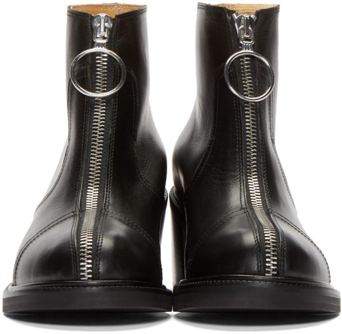 Lyst Mm6 By Maison Martin Margiela Black Leather Zip
