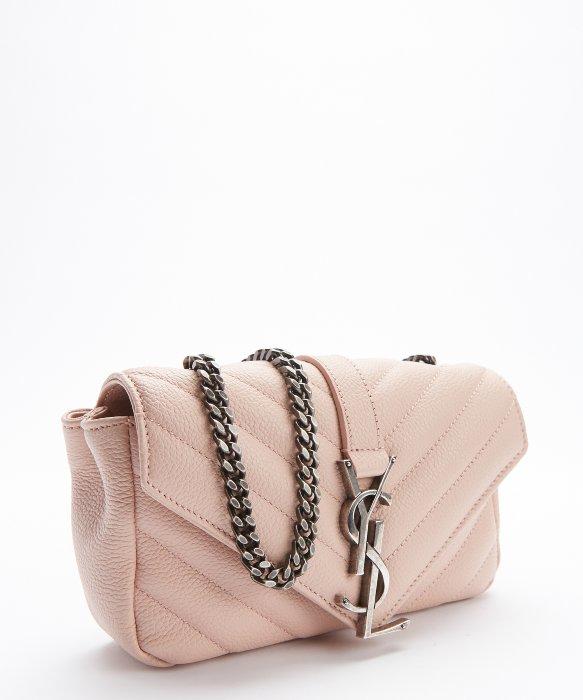 Classic Medium Monogram Saint Laurent College Bag In Powder Pink