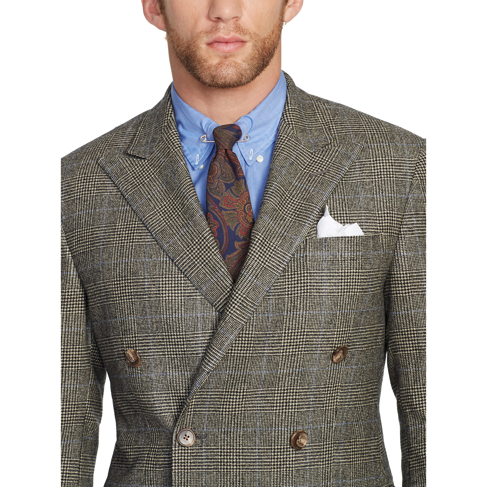 Polo ralph lauren Polo Double-Breasted Wool Suit in Brown for Men ...