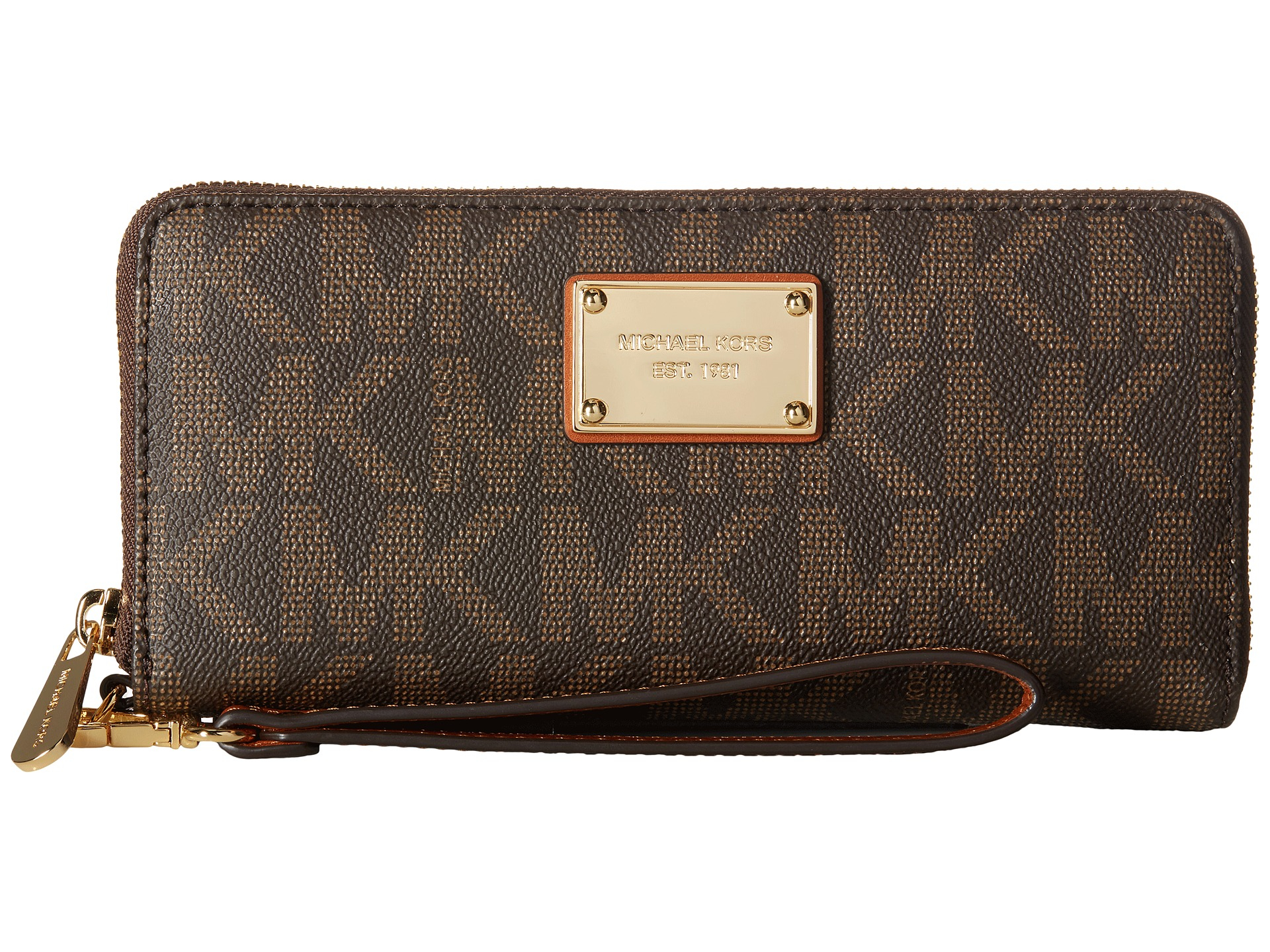 d24583c361ca ... promo code for lyst michael michael kors jet set item travel continental  in brown eba65 fefa1