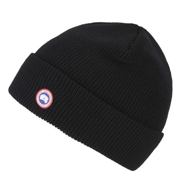 Canada Goose Men s Merino Wool Beanie Hat in Black for Men - Lyst 19ee92dcf2b