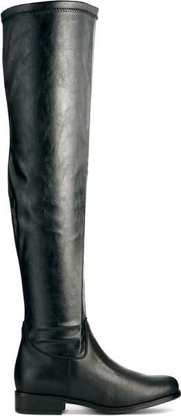aldo leather freiwen the knee boots in black lyst