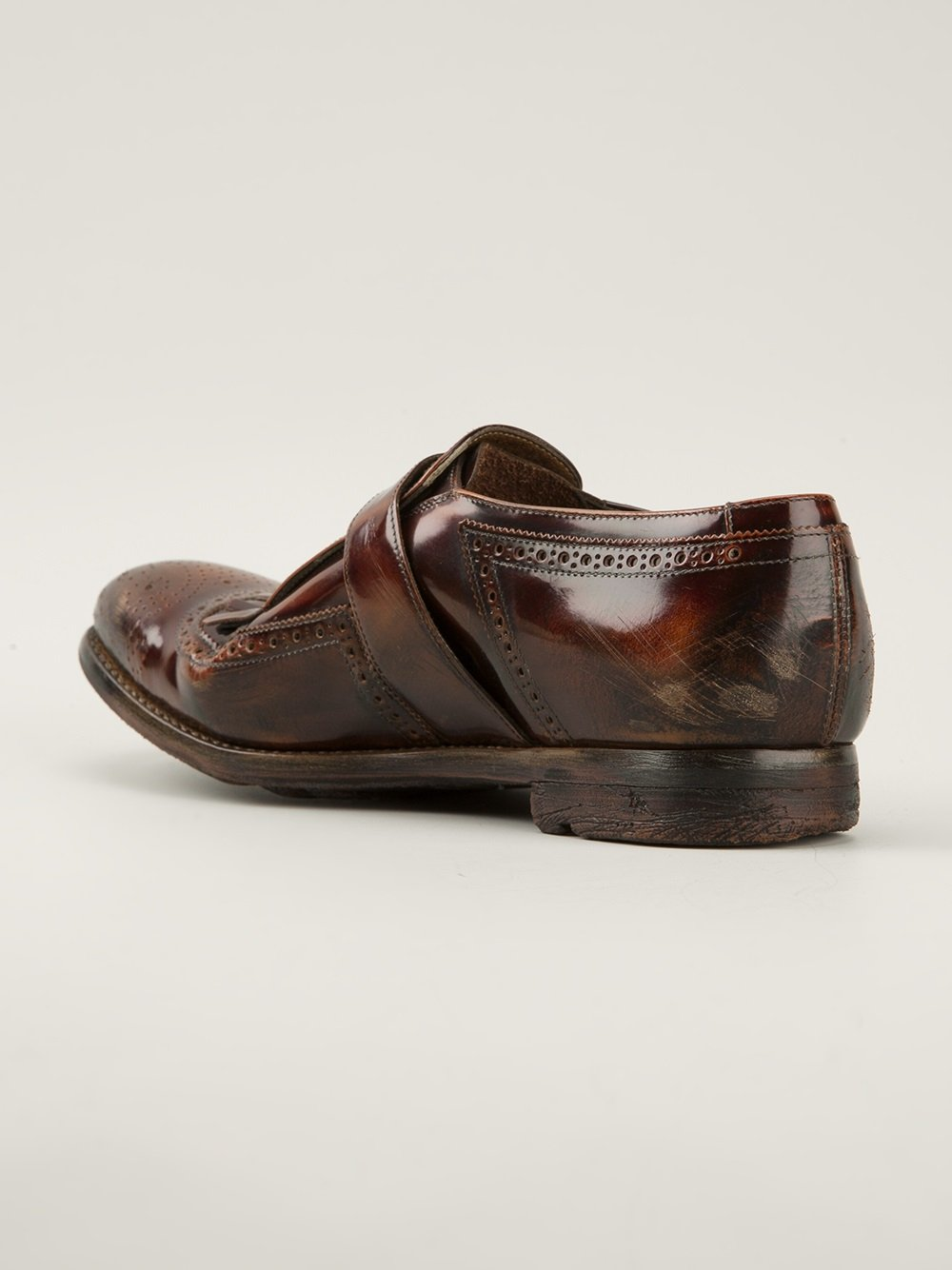 church s shanghai monk shoes in brown for lyst