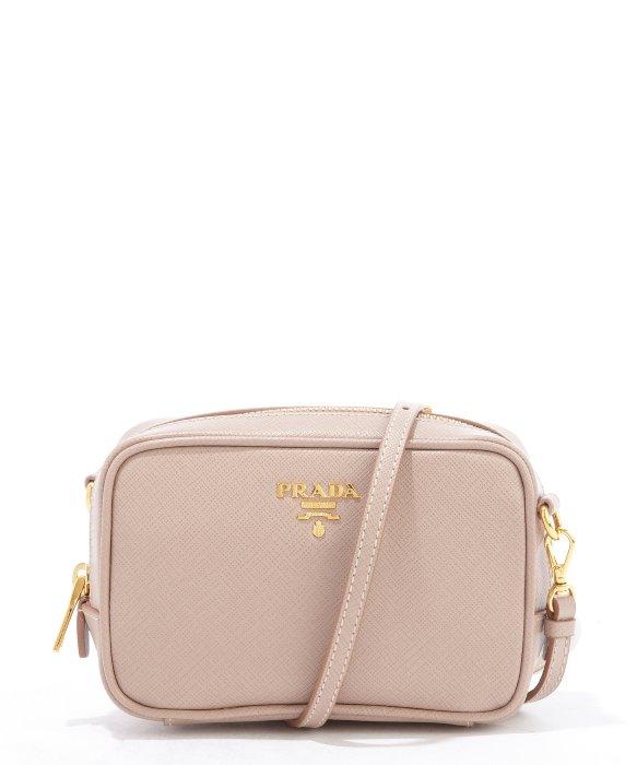 d7780452607c ... closeout lyst prada dusty rose saffiano leather mini crossbody bag in  pink 1d51b 5dcb4