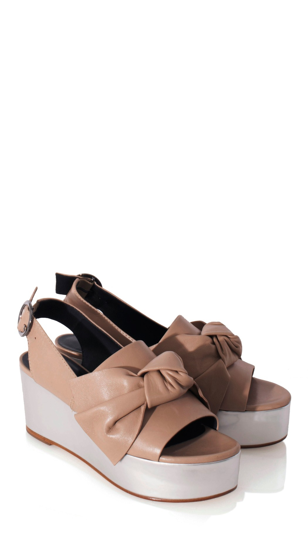 c0367dfe173 Lyst - Tibi Estel Leather Platform Sandals in Pink