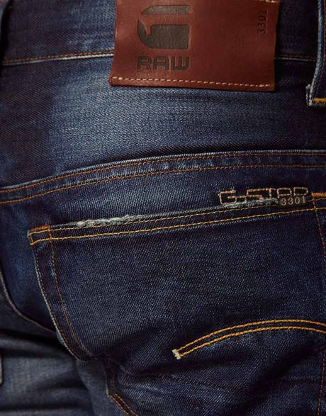 g star raw gstar jeans bootcut fit dark aged in blue for. Black Bedroom Furniture Sets. Home Design Ideas