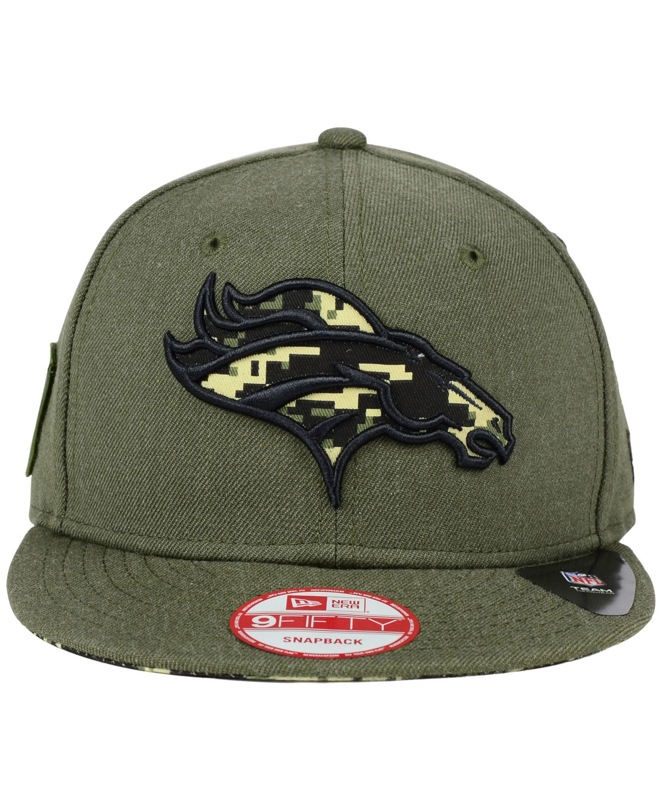 Lyst - KTZ Denver Broncos Camo 9fifty Snapback Cap in Green for Men 7ba317d46558