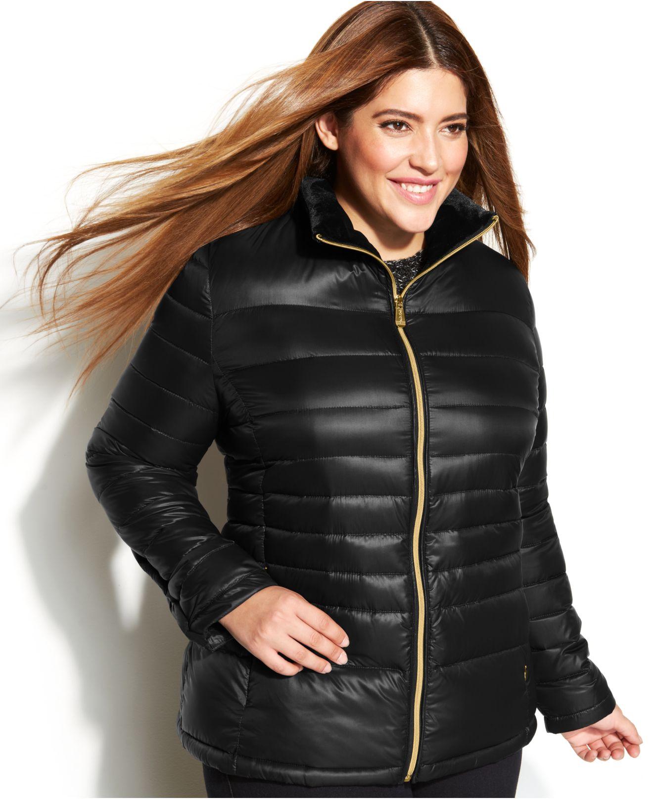 Plus size puffer coats for women