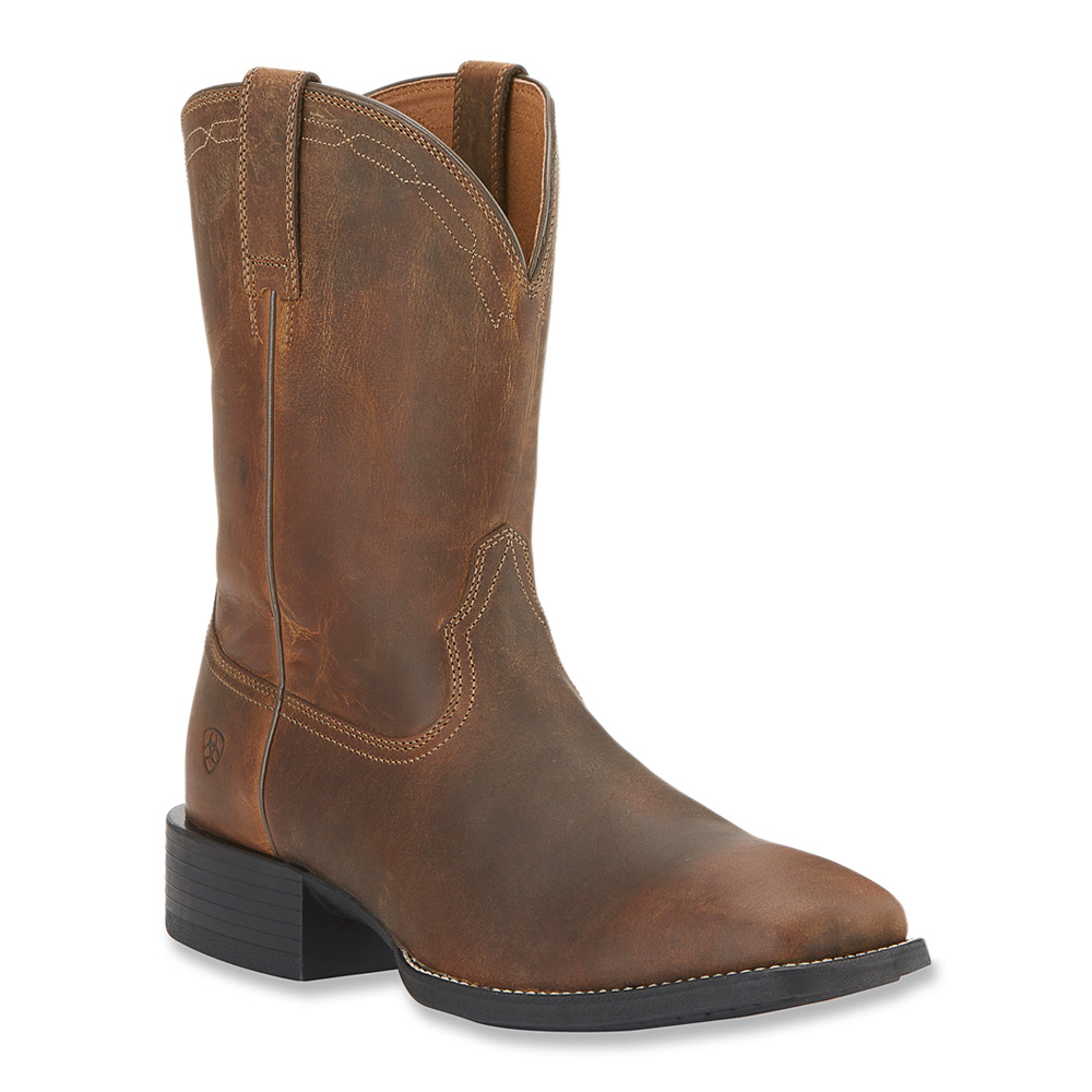 Lyst Ariat Heritage Roper Wide Square Toe In Brown For Men