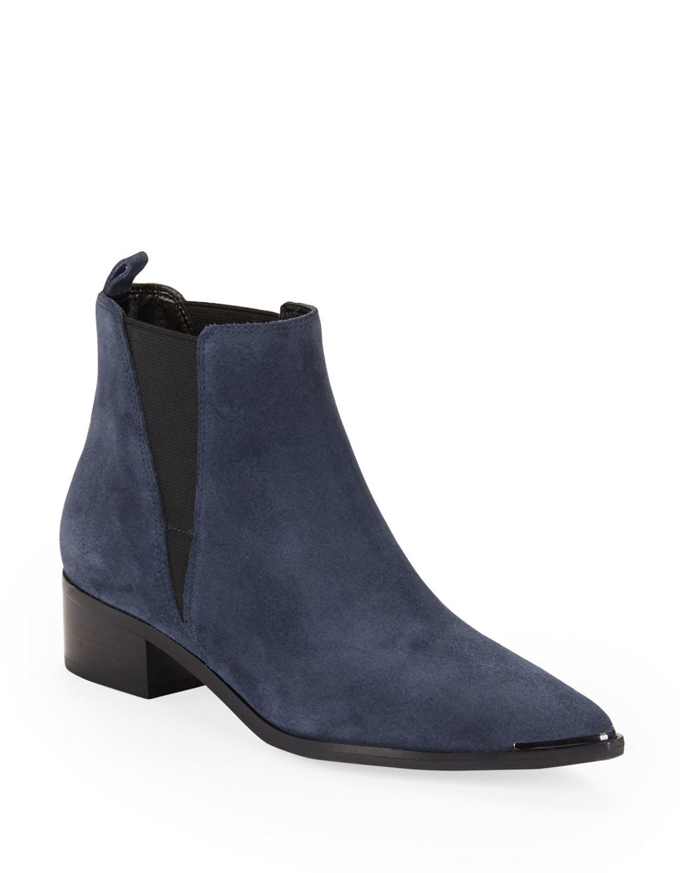 Marc fisher Yale Croco Print Leather Boots in Blue
