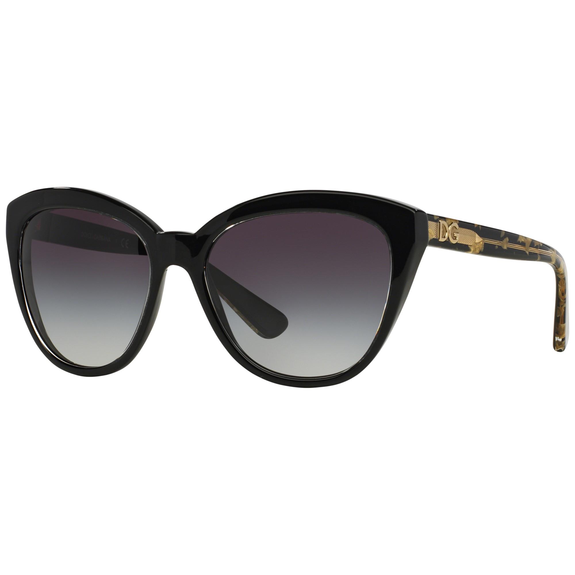 4f56f375ba2a Dolce   Gabbana Dg4250 Cat s Eye Polarised Sunglasses in Black - Lyst