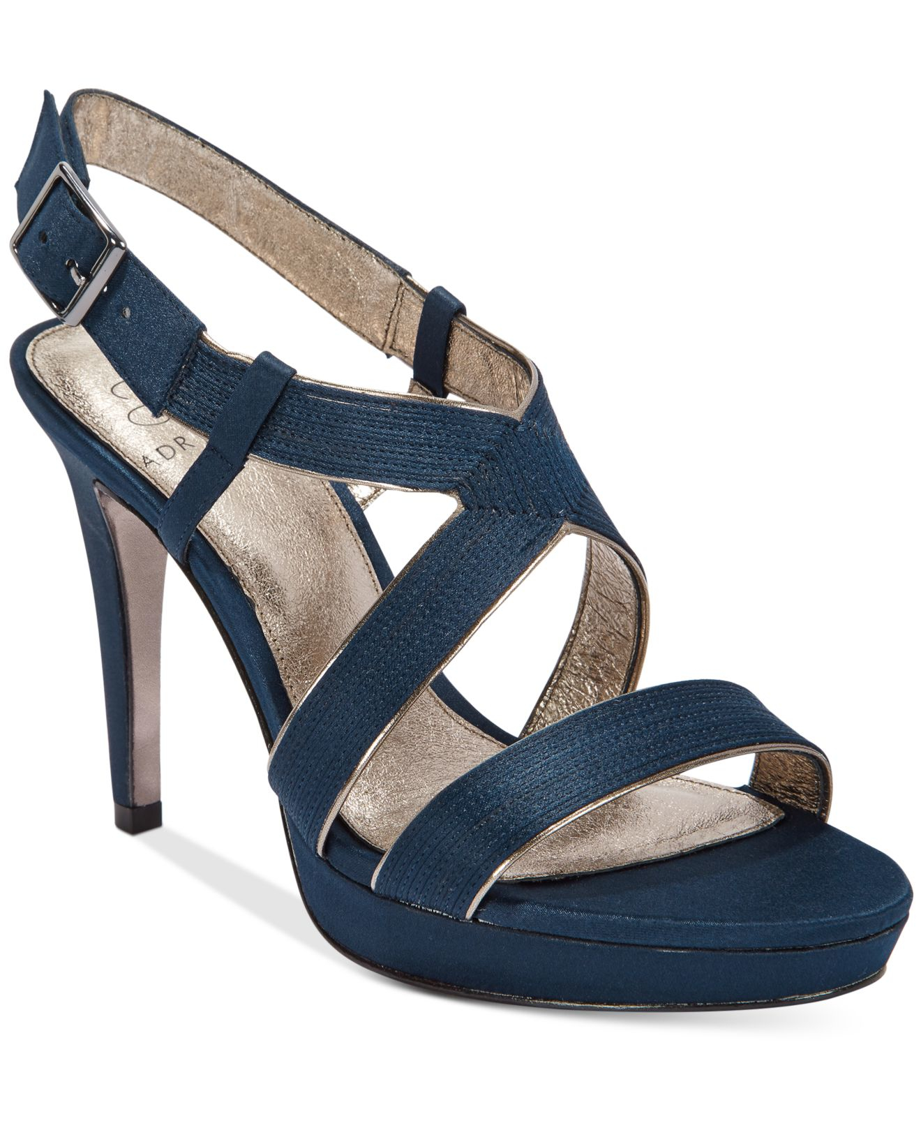 Lyst - Adrianna Papell Anette Evening Sandals in Blue