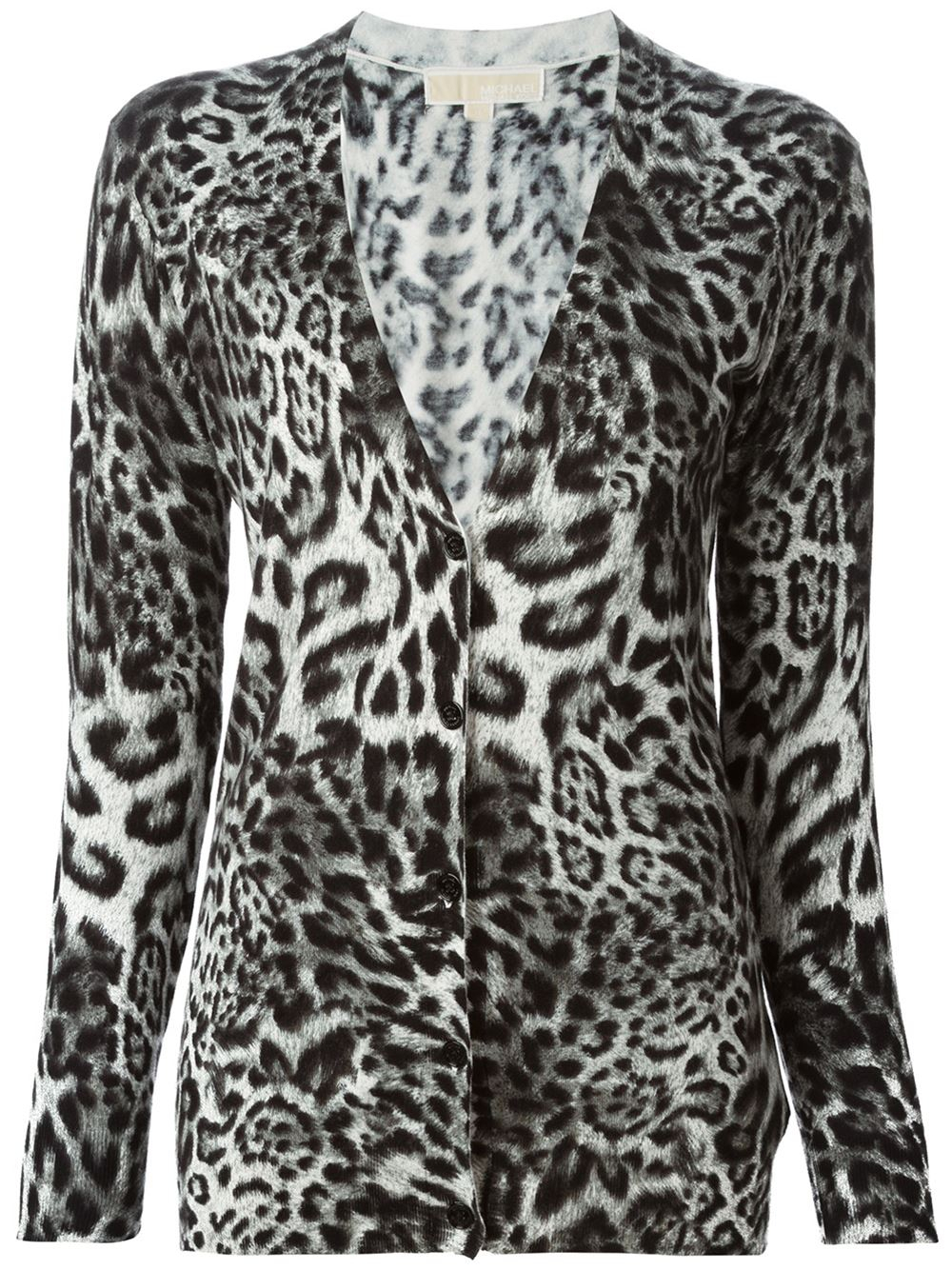 Michael michael kors Leopard Print Cardigan in Animal ... - photo#33