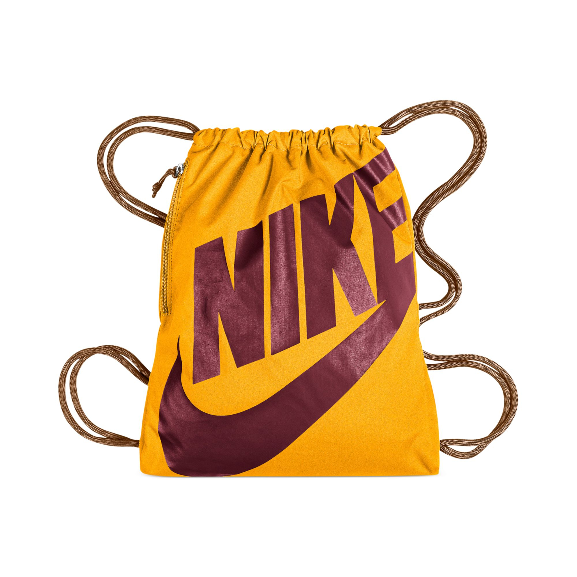 size 40 b879c e57ac Nike Heritage Gymsack in Yellow for Men - Lyst