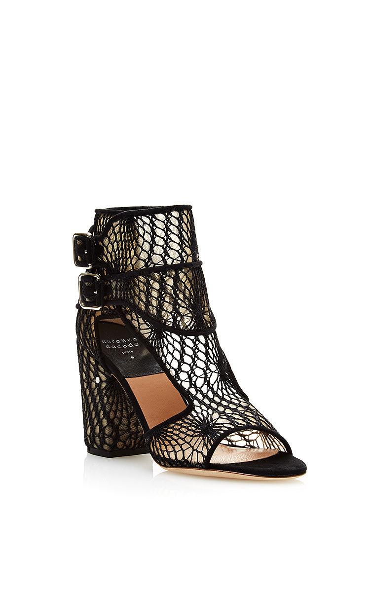 cf88305667ac Lyst - Laurence Dacade Rush Mesh Macrame Sandals in Black