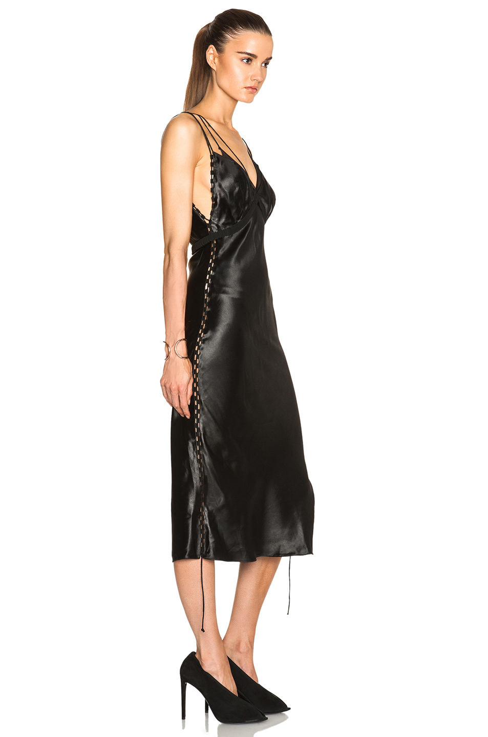 Lyst Alexander Wang Bias Cut Slip Dress With Side Seam