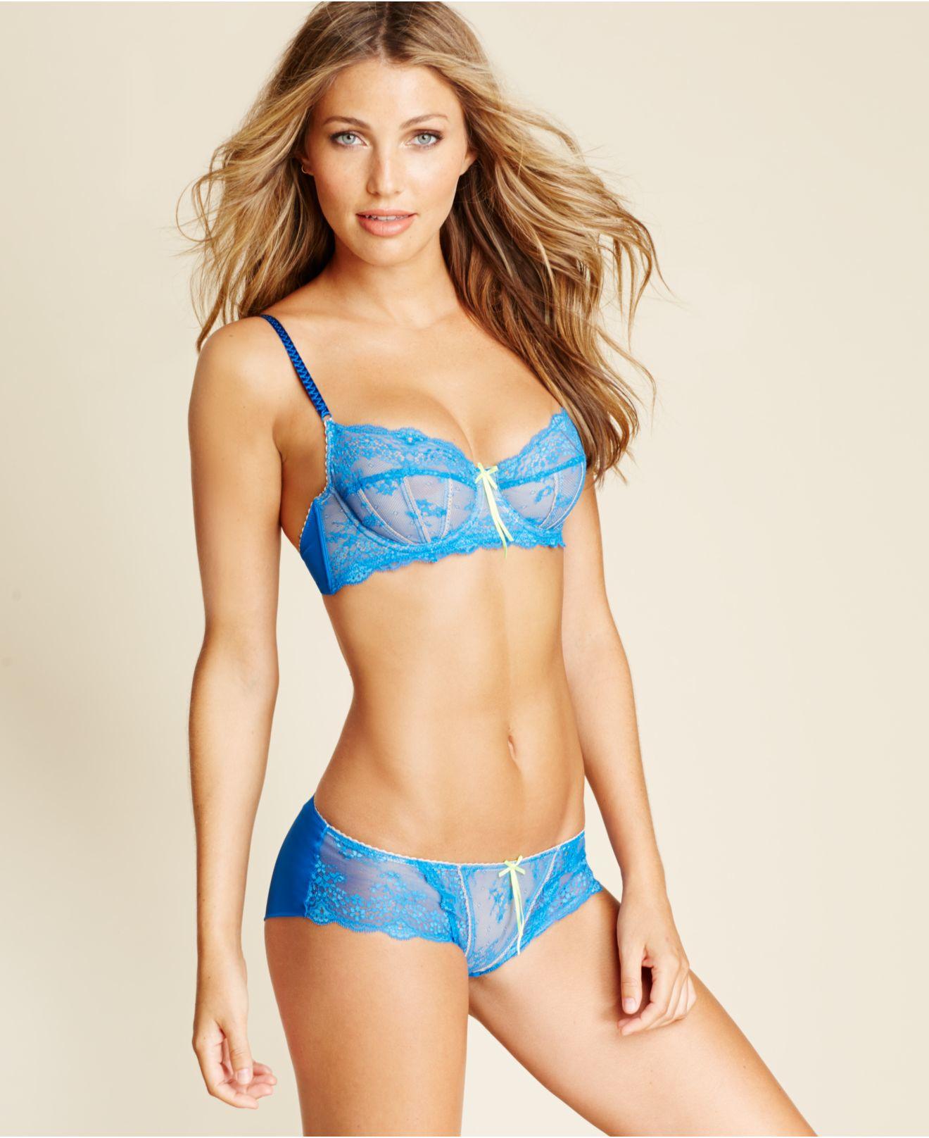 Heidi klum intimates Sofia Underwire Bra H75-261 in Blue | Lyst