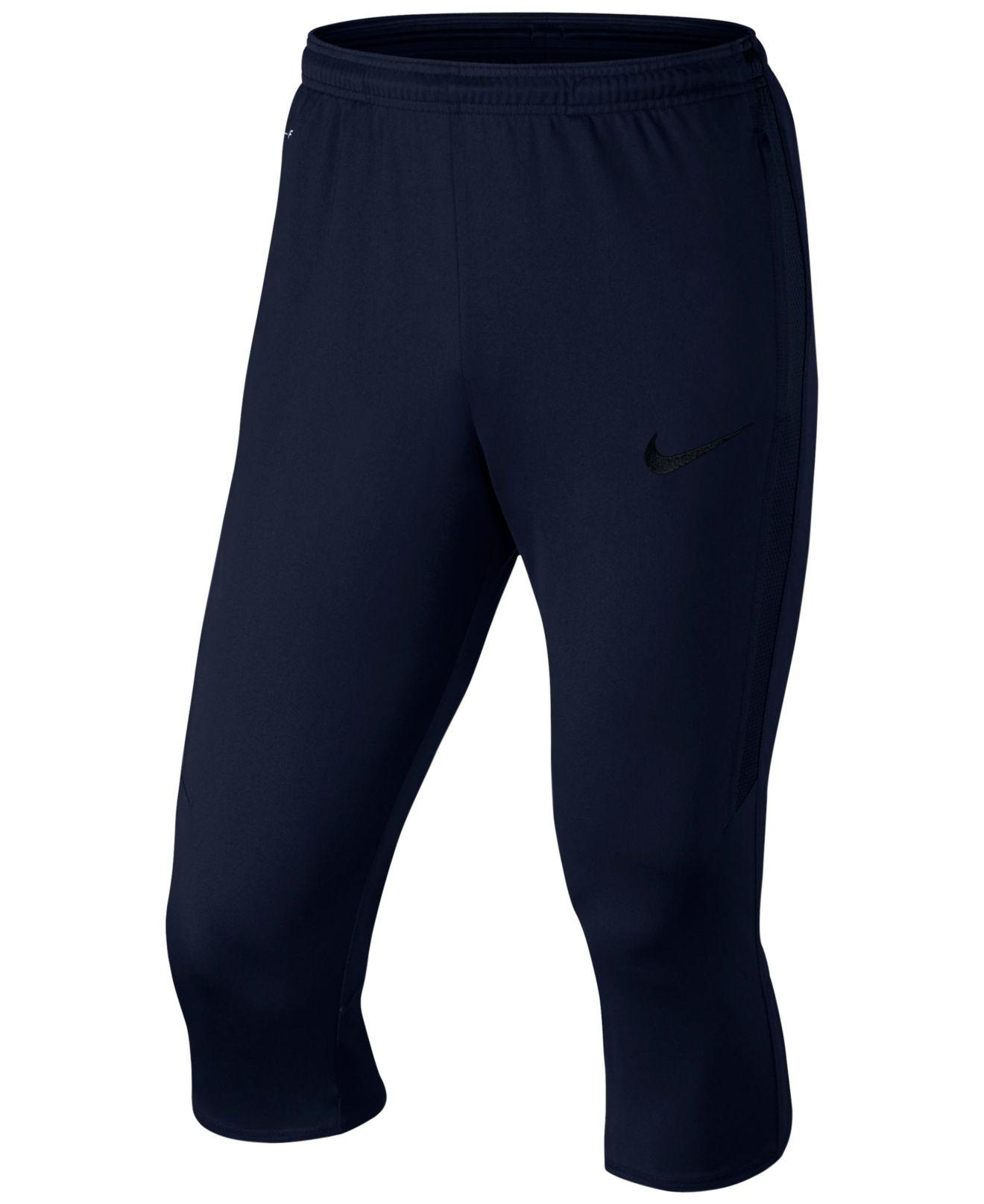 Nike Men's Strike Dri-fit Soccer 3/4 Tech Pants in Black ...