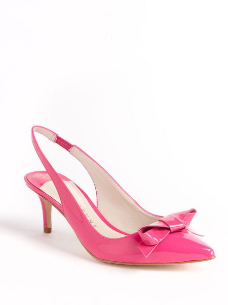 ivanka lovely patent leather slingback pumps in pink