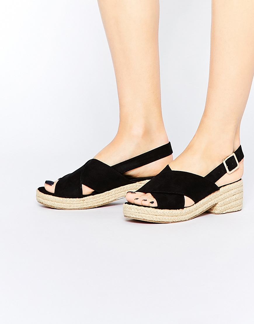 asos tabitha espadrille sandals in black lyst. Black Bedroom Furniture Sets. Home Design Ideas