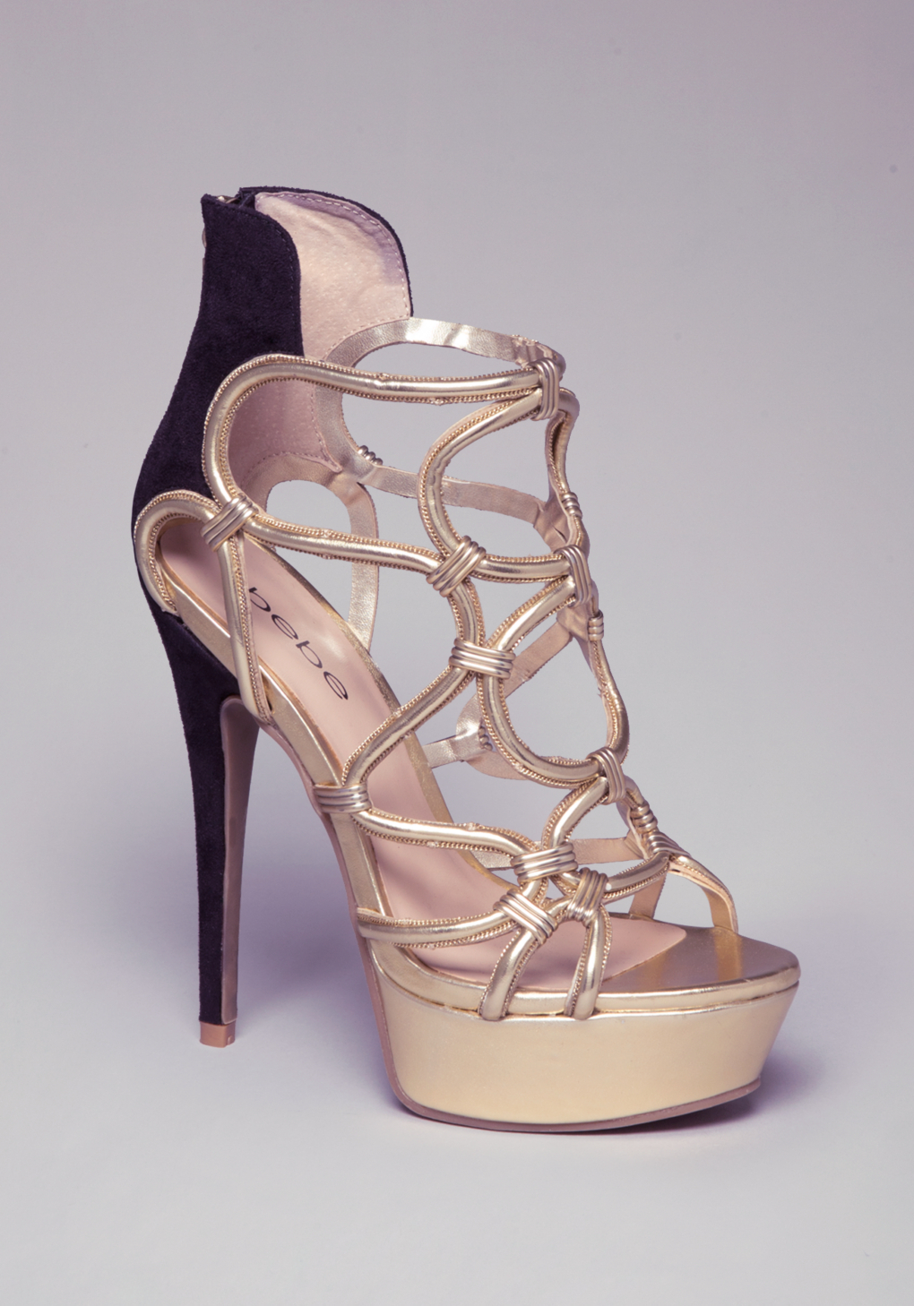 088beb3c918 Lyst - Bebe Charmaine Strappy Sandals in Metallic